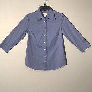J Crew blue quarter sleeve button down